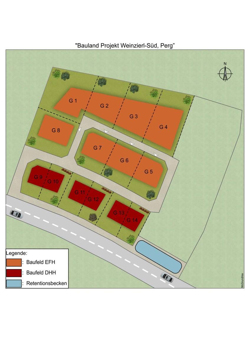 Lageplan KAT626 Bauland Weinzierl-Süd